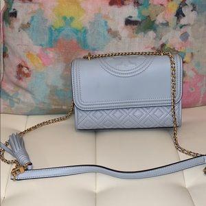 Tory Burch powder blue Fleming purse